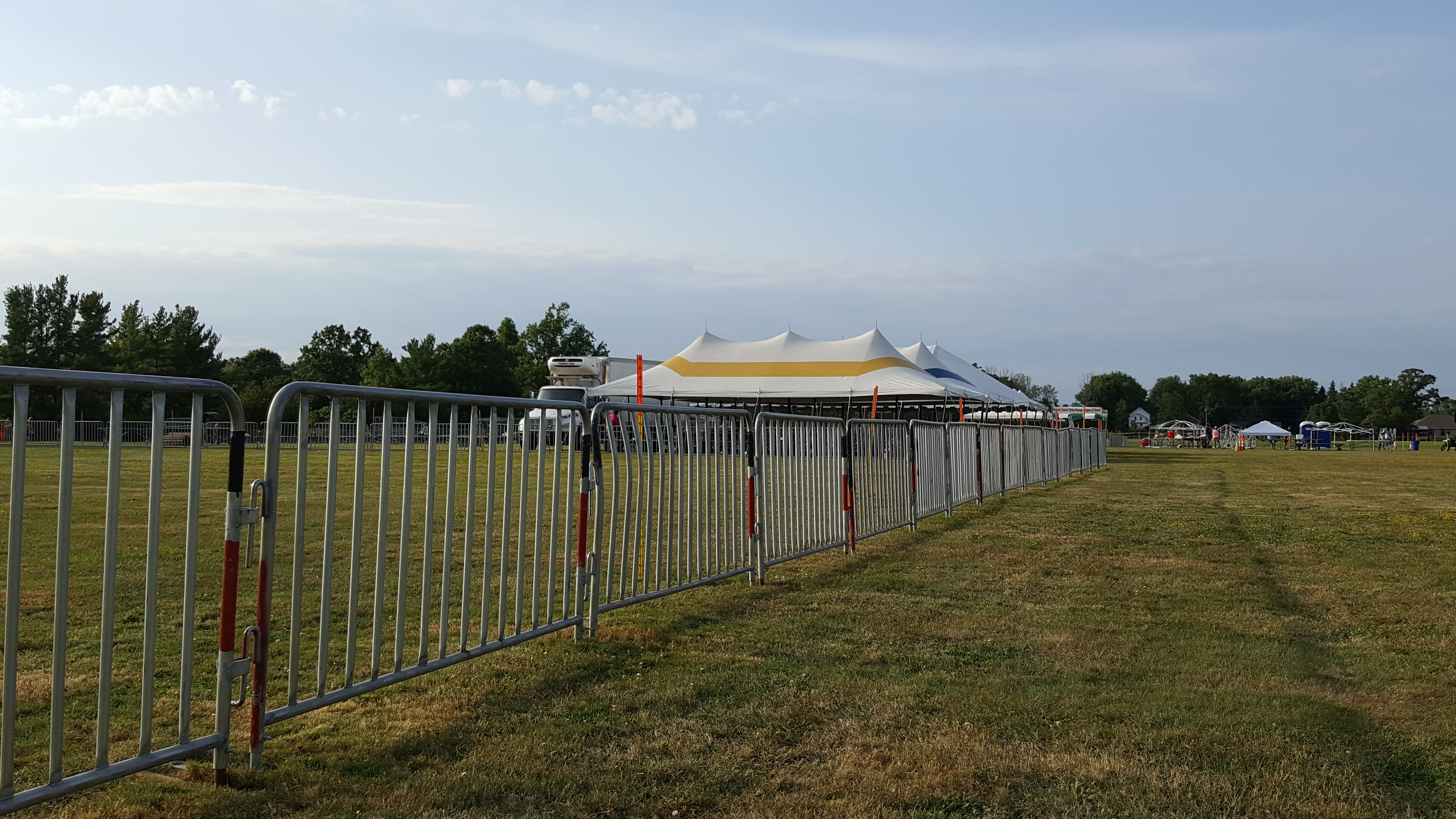crowd control barrier at concert